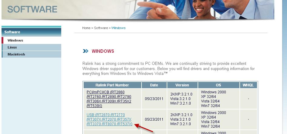 Salley us Mini Wireless USB -- RALINK Updated Driver 3 2 1 0